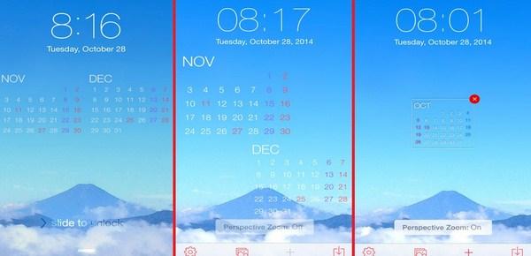 Lock Screen Calendar