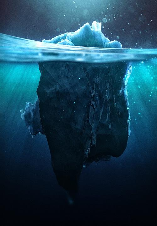 Caustic Icebergs