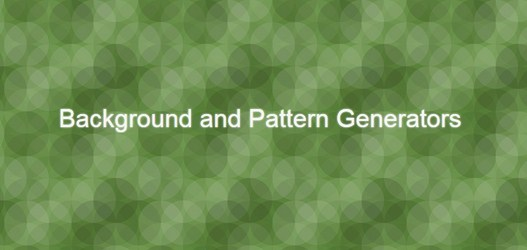 30+ Background and Pattern Generators (online) for Designers