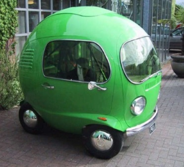 Green Bubble Like Car