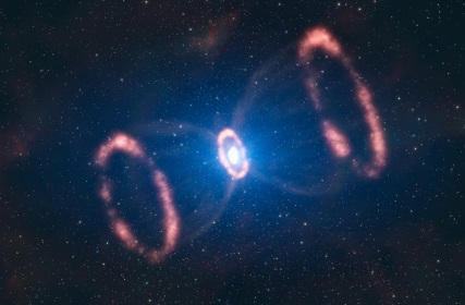 Hour Glass Supernova (SN 1987A)