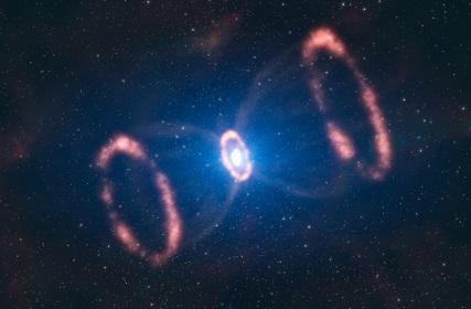 Hour Glass Supernova (SN 1987A)