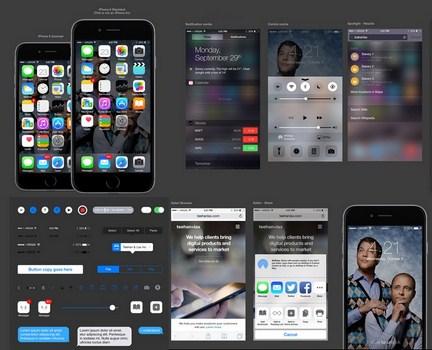 iOS 8 GUI for Sketch
