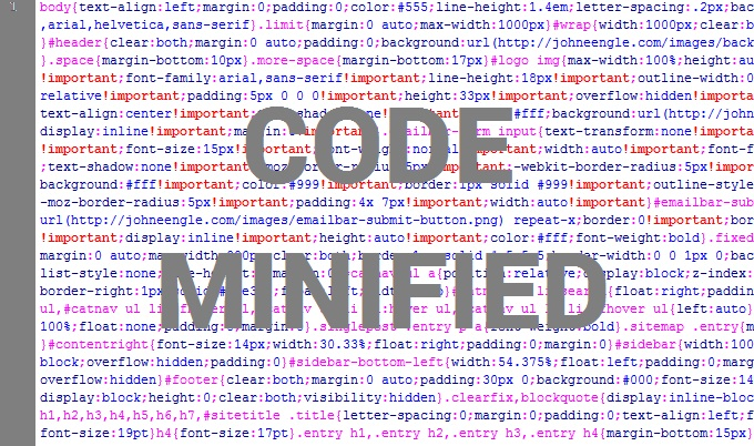 code minified
