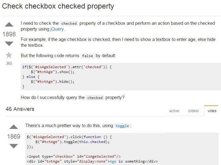 Check Checkbox Checked Property