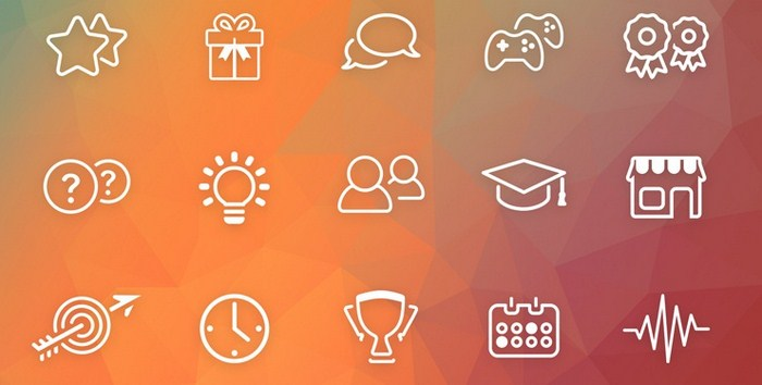 Gamification icons