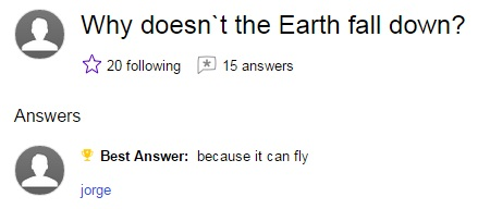 Why does not the earth fall down
