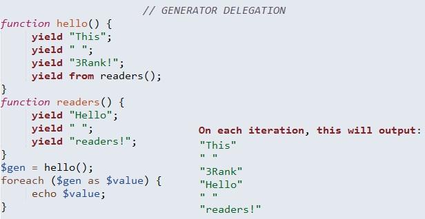 generator delegation