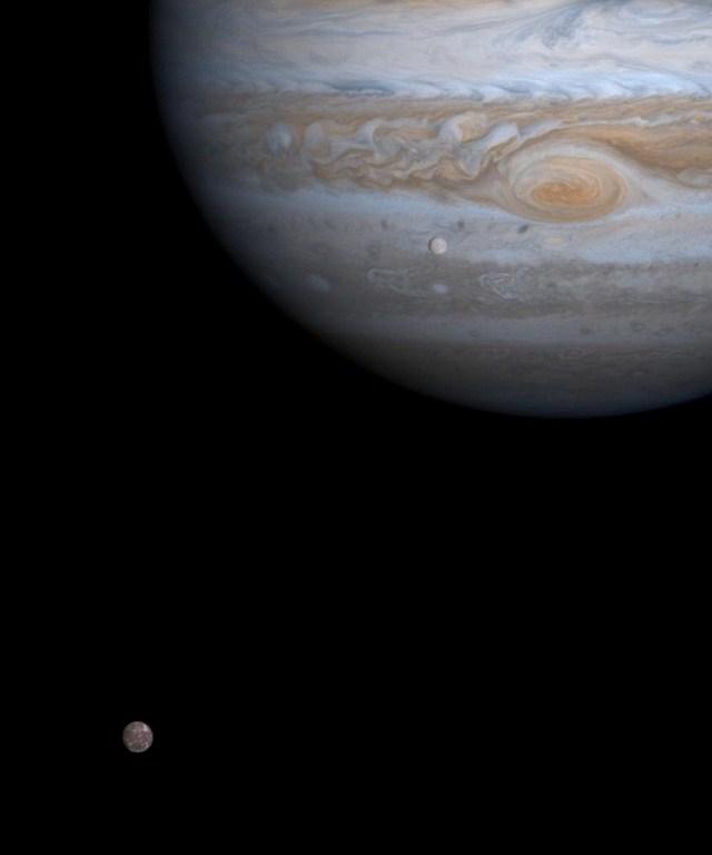 Jupiter, Europa and Callisto
