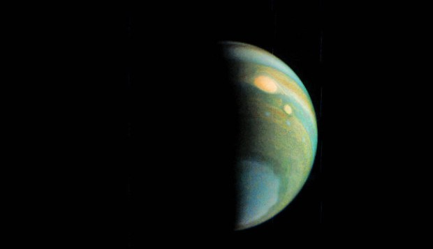 Jupiter Polar Haze in False Color