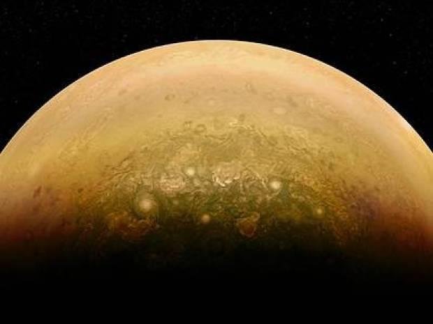 Sunlight on Jupiter