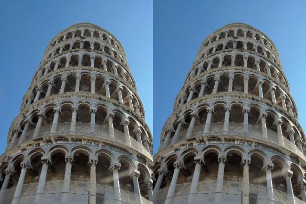 Tower of pisa illusion