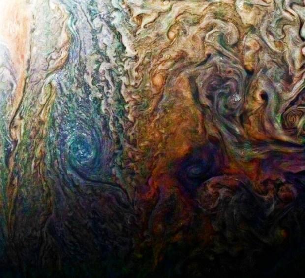 A mysterious dark spot on Jupiter