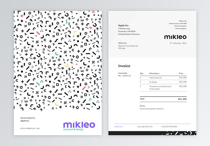 mikleo invoice