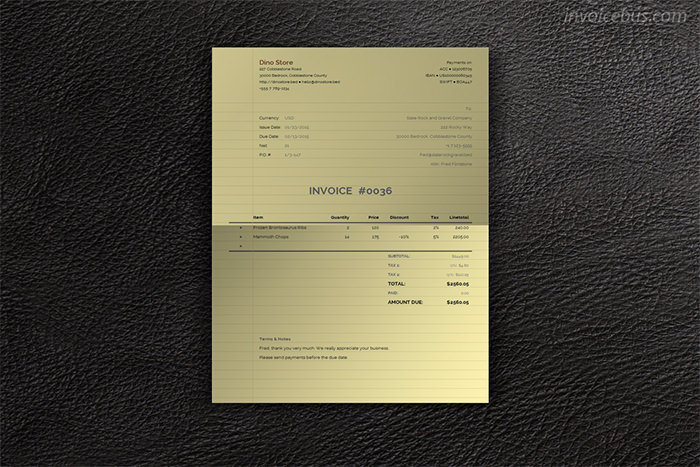 paperlike invoice