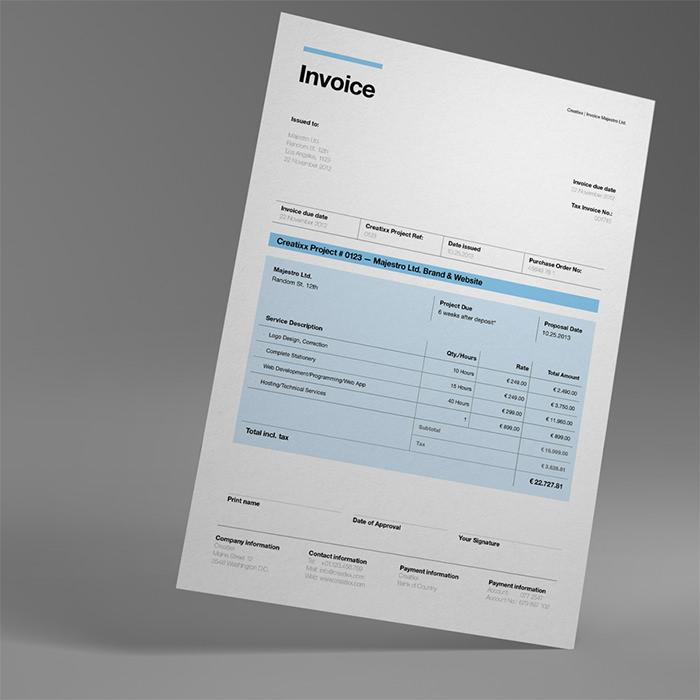 suisse invoice