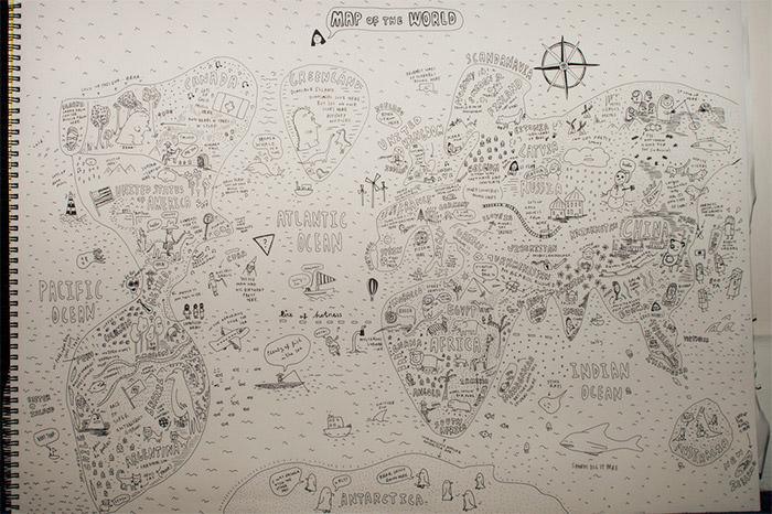 sketchy map
