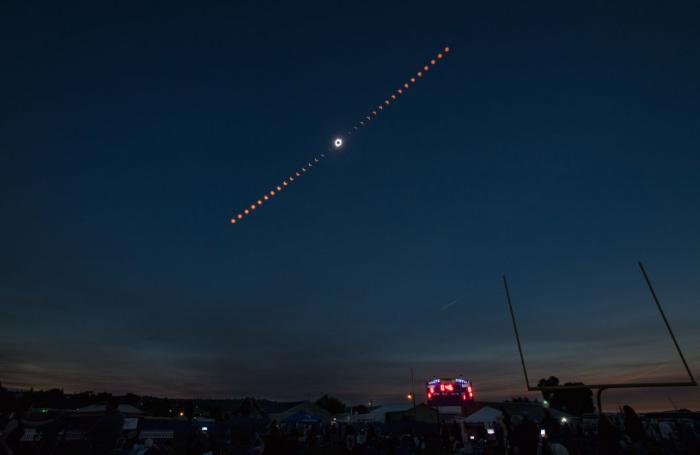 solar eclipse composite