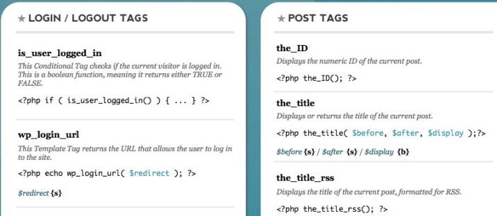 WordPress CSS Cheat Sheet