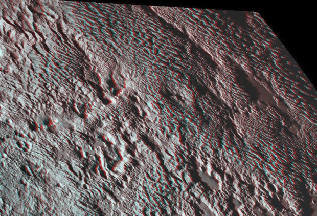 bladed terrain on pluto