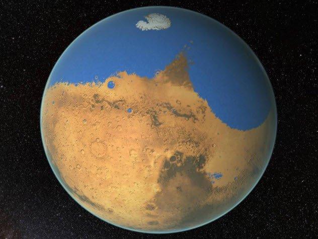 mars sea