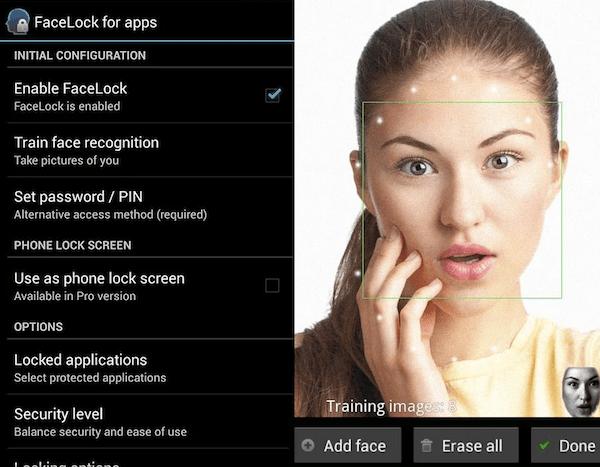 Facial recognition 2018