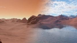 Today's Mars vs Mars 3.5 billion years ago