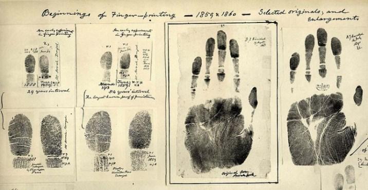 first finger prints