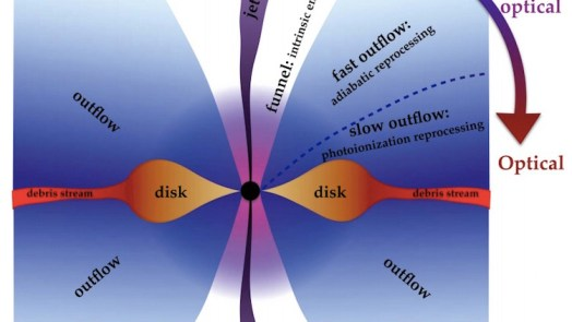 computer model of Black Hole Eating A Star