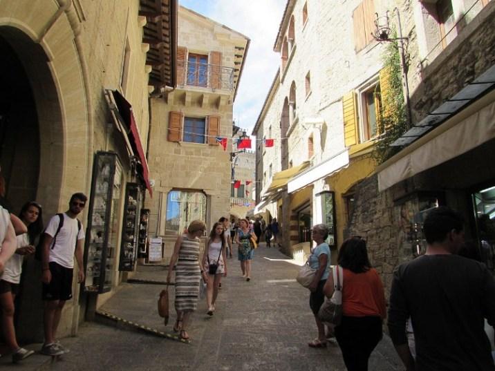 A common street in San Marino