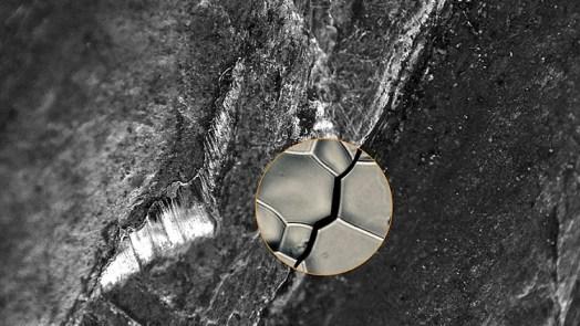 Microscopic Cracks In Alloys 3D image
