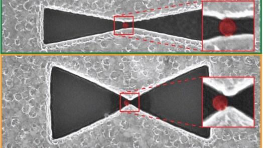 capture single ultrafine dust particle