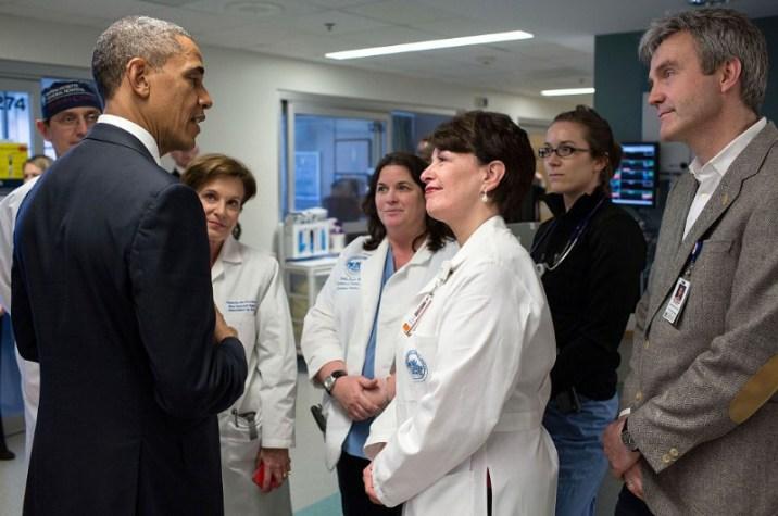 Barack Obama at the Mass General Hospital