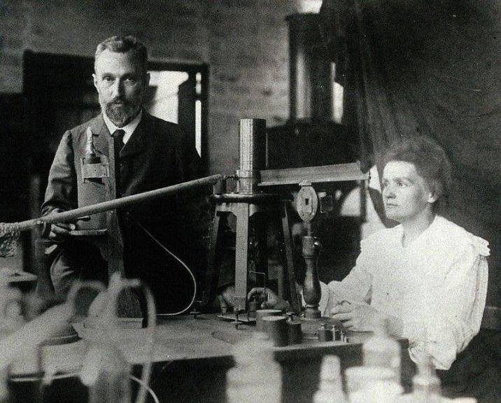 Marie curie and her husband