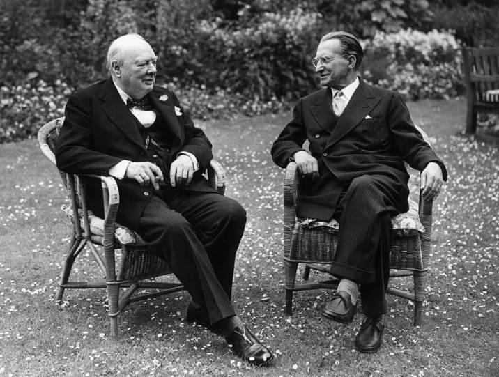 Gasperi and Winston Churchill
