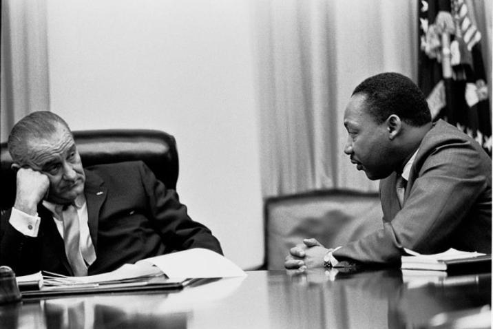 LBJ and Martin Luther King