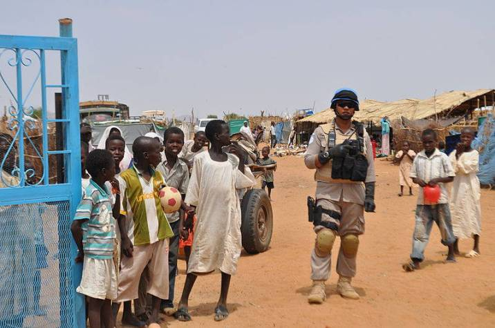 A UN Peacekeeper in the Abu Shouk IDP Camp
