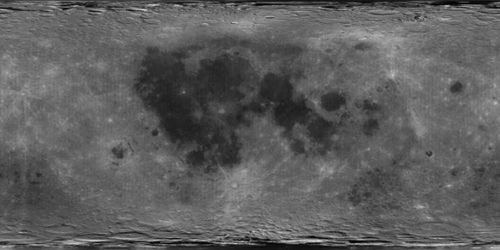 Albedo map of the Moon