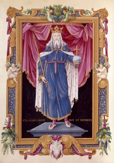 A depiction of Charlemagne