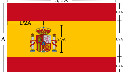 Spanish flag specifications