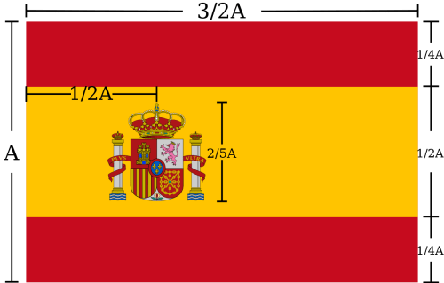 Spanish national flag specifications