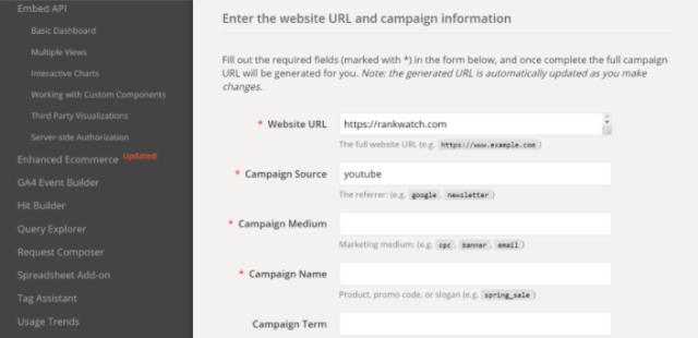 Adding Campaign Source in Campaign URL builder