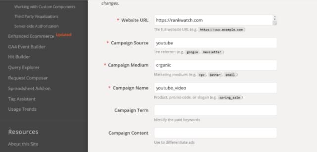 Adding Campaign Term in Campaign URL builder