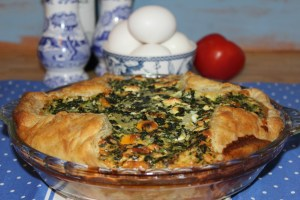 Spinach and Bacon Puff Pastry Quiche