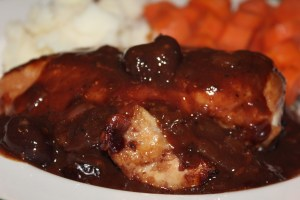 Baked Chicken with Chery Sauce