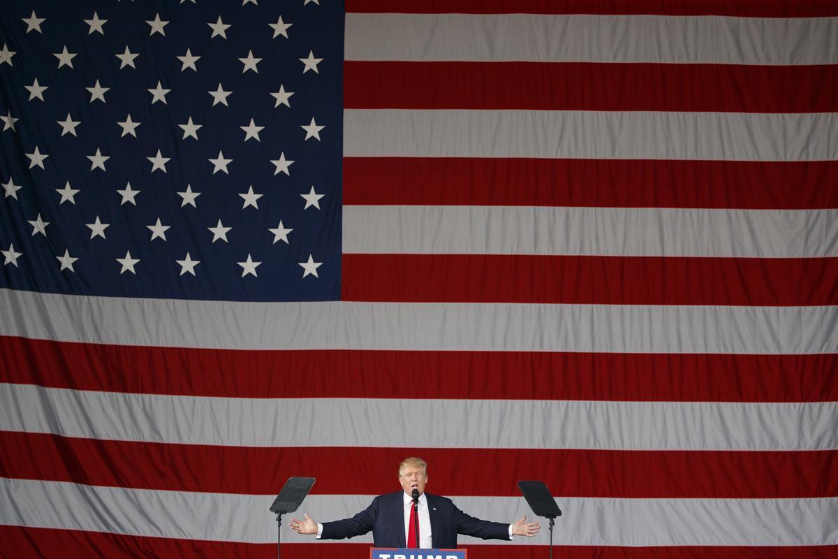 Republican presidential candidate Donald Trump speaks during a campaign rally in St. Augustine, Fla. - Oct. 24, 2016 (AP Photo/ EvanVucci)