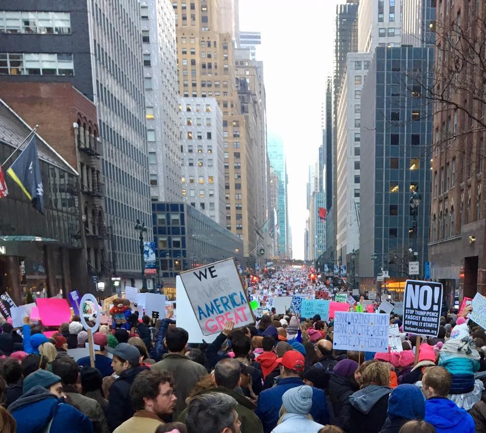 New York City Women's March, January 21, 2017. [Photo by Katherine Simao]