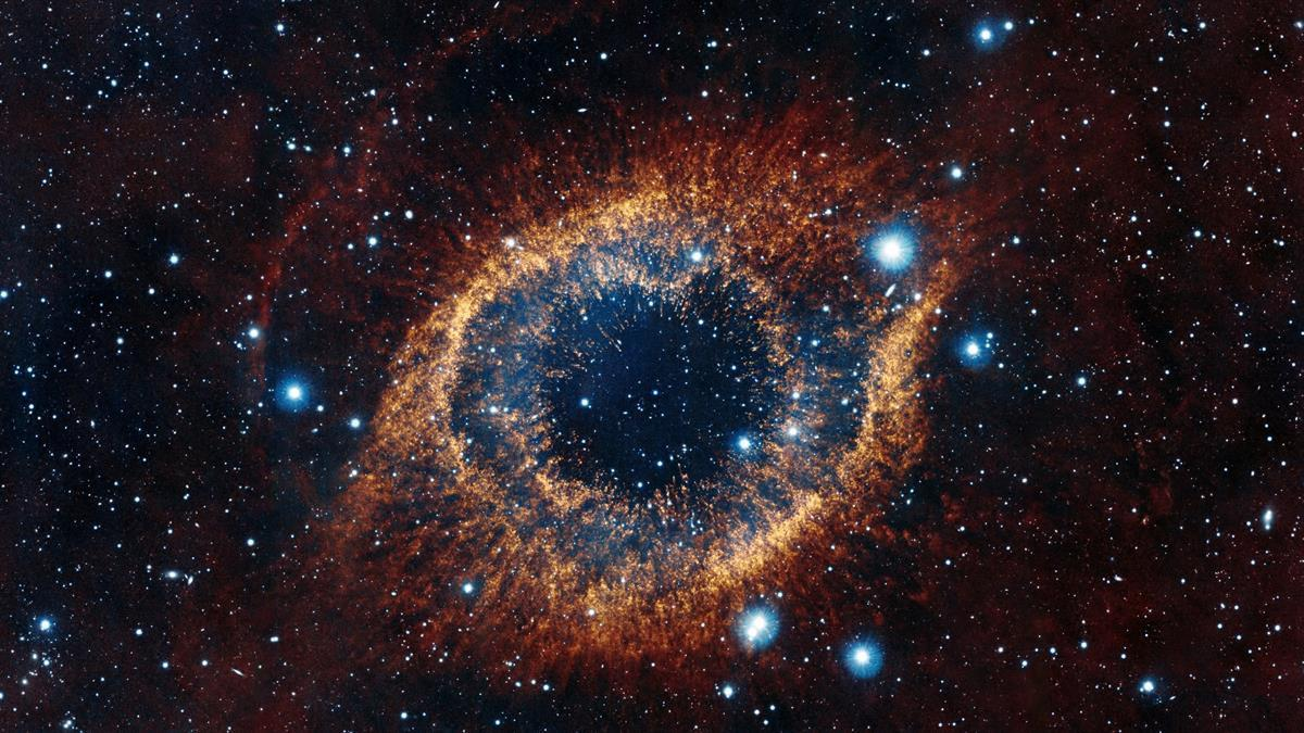 The Helix Nebula, one of the closest planetary nebulae to Earth (NASA)