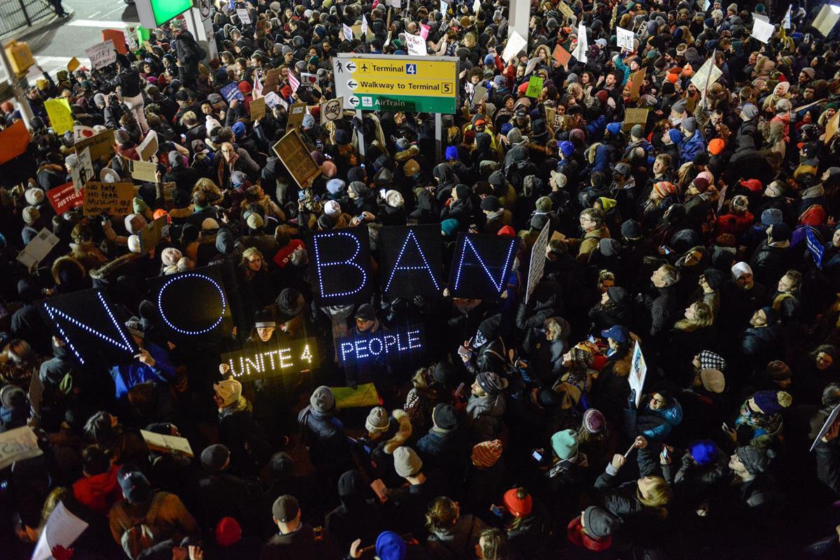 New York City protest — January 2017 (Getty Images)