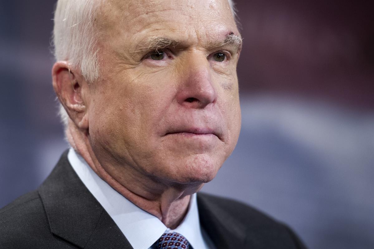 Senator John McCain (R-AZ) on Capitol Hill in Washington—Thursday, July 27, 2017 (AP/Cliff Owen)